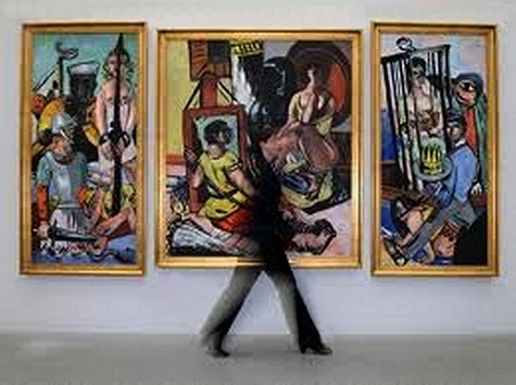 Beckmann: Temptation (1936/1937, Munich) · © Copyright Werner Popken.  Alle Kunstwerke / all artwork © CC BY-SA