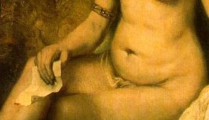 » Detail: Rembrandt, Bathseba · © Copyright Werner Popken.  Alle Kunstwerke / all artwork © CC BY-SA