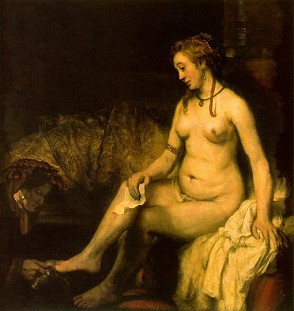 Rembrandt: Bathseba  › Großansicht (Bild=Extrafenster) · © Copyright Werner Popken.  Alle Kunstwerke / all artwork © CC BY-SA