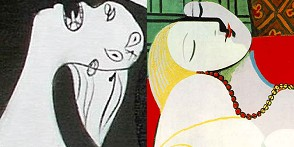 Picasso: » Guernica (Detail), » Der Traum (Detail) · © Copyright Werner Popken.  Alle Kunstwerke / all artwork © CC BY-SA