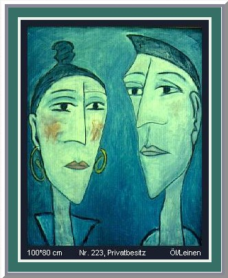 &nbsp;Daily Drawing Nr. 20: 223, two heads in blue &#0183; &copy; Copyright Werner Popken. <br><br>Alle Kunstwerke / all artwork &copy; CC BY-SA