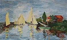 Regatta bei Argenteuil, Kopie · © Copyright Werner Popken.  Alle Kunstwerke / all artwork © CC BY-SA