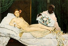 » Manet: Olympia 1863, 130x190cm · © Copyright Werner Popken.  Alle Kunstwerke / all artwork © CC BY-SA