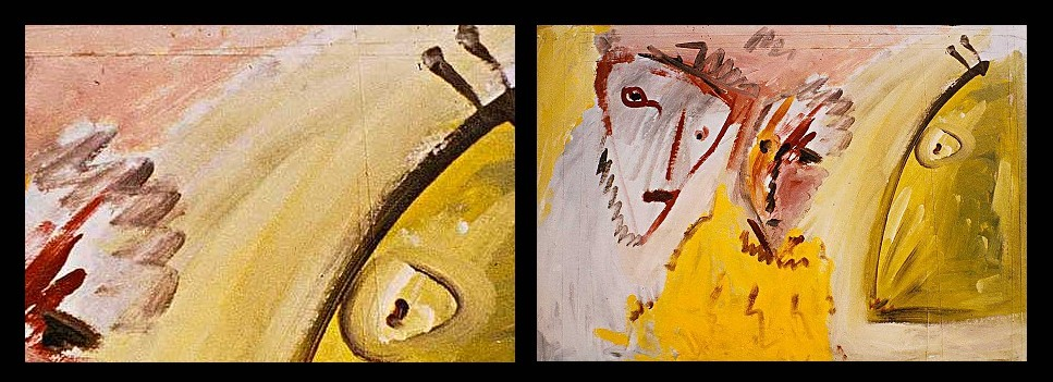 Vergleich: Detail (links) und Original (rechts) · © Copyright Werner Popken.  Alle Kunstwerke / all artwork © CC BY-SA