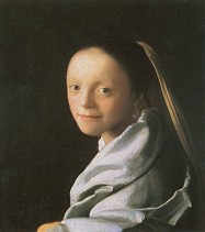 Vermeer: Mädchen. 1666 · © Copyright Werner Popken.  Alle Kunstwerke / all artwork © CC BY-SA