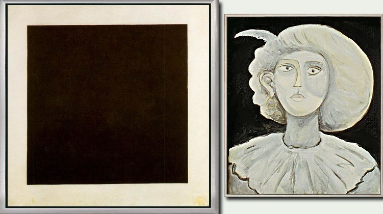 No. 27 » Malewitsch: Schwarzes Quadrat 79x79cm. 1915 » 161 70x60cm, 19.06.1974 · © Copyright Werner Popken.  Alle Kunstwerke / all artwork © CC BY-SA
