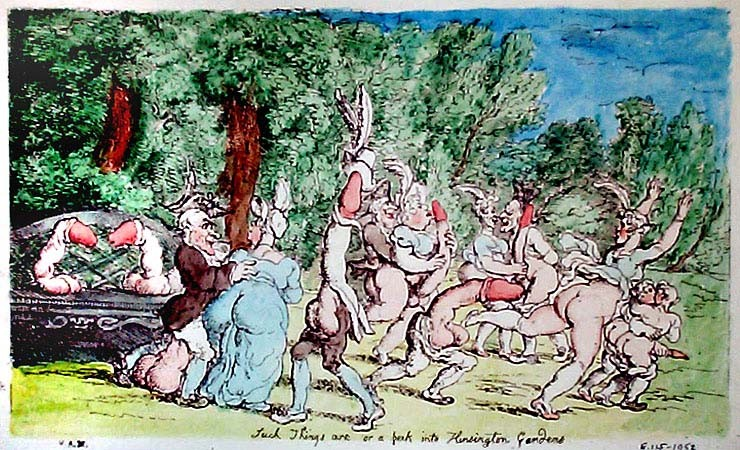 » Rowlandson: Such Things are or a perk into Kensington Gardens · © Copyright Werner Popken.  Alle Kunstwerke / all artwork © CC BY-SA