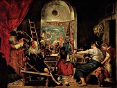 »  Velázquez: Spinnerinnen. 222x293cm, 1644-1648 · © Copyright Werner Popken.  Alle Kunstwerke / all artwork © CC BY-SA