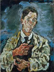 Kokoschka:<br /> Selbst. 1917 · © Copyright Werner Popken.  Alle Kunstwerke / all artwork © CC BY-SA