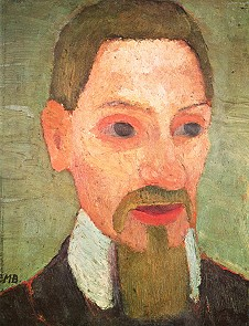 » Modersohn-Becker: Rilke. 32x25cm. 1906 · © Copyright Werner Popken.  Alle Kunstwerke / all artwork © CC BY-SA