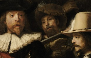 Google Art Project » Rembrandt » Die Nachtwache  (Ausschnitt) · © Copyright Werner Popken.  Alle Kunstwerke / all artwork © CC BY-SA