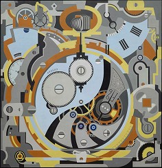 �Gerald Murphy: Watch, 1925. 199x200cm · © Copyright Werner Popken.  Alle Kunstwerke / all artwork � CC BY-SA
