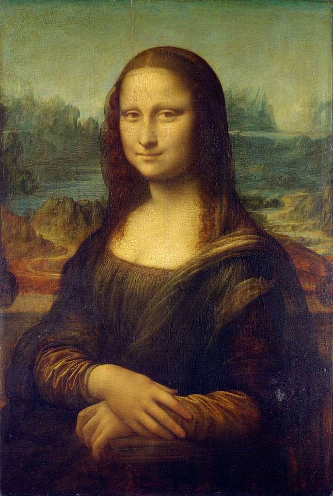 Leonardo: » Mona Lisa 77x53cm. 1503-1505 · © Copyright Werner Popken.  Alle Kunstwerke / all artwork © CC BY-SA