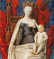 » Jean Fouquet: Maria mit Kind 1452-1455, 95x86cm · © Copyright Werner Popken.  Alle Kunstwerke / all artwork © CC BY-SA