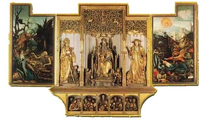 » Isenheim Altarpiece: 3rd wing · © Copyright Werner Popken.  Alle Kunstwerke / all artwork © CC BY-SA